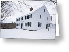 1800 White Colonial Home Greeting Card