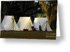 1800s Army Tents Greeting Card