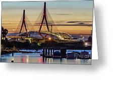 1812 Constutition Bridge From Rio San Pedro Puerto Real Spain Greeting Card