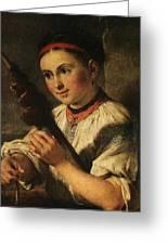1820- Vasily Tropinin Greeting Card