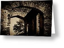1833 Ruins Greeting Card