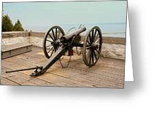1841 Model Six Pounder Cannon At Fort Mackinac Greeting Card