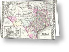 1855 Texas Map Greeting Card