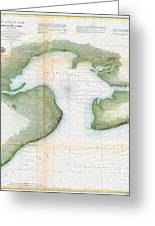 1857  Coast Survey Map Of St. Louis Bay And Shieldsboro Harbor, Mississippi  Greeting Card
