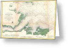 1857 U.s. Coast Survey Map Or Chart Of The Entrance To The York River, Virginia Greeting Card