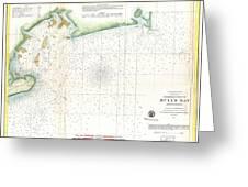 1859 U.s. Coast Survey Map Of Bull's Bay South Carolina Greeting Card