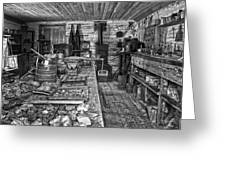1860's Ore Assay Office Shop - Montana Greeting Card by Daniel Hagerman