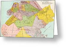 1869 King County Map Greeting Card