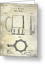 1873 Beer Mug Patent Greeting Card