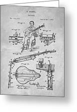 1873 Guitar Patent Blueprint Greeting Card