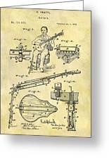 1873 Guitar Patent Greeting Card