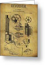 1875 Revolver Patent Greeting Card