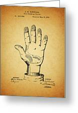 1878 Corn Husking Glove Patent Greeting Card