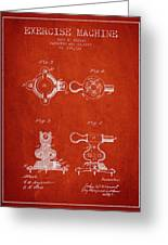 1879 Exercise Machine Patent Spbb08_vr Greeting Card