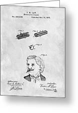1879 Mustache Guard Patent Greeting Card