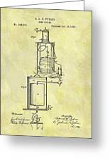 1881 Beer Cooler Patent Greeting Card
