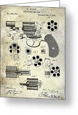 1881 Revolver Patent  Greeting Card