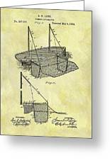 1882 Fishing Net Patent Greeting Card