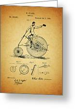1883 Bicycle Greeting Card