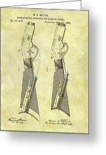 1884 Rifle Stock Patent Greeting Card