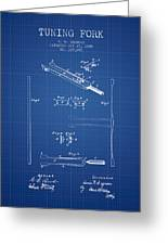 1885 Tuning Fork Patent - Blueprint Greeting Card