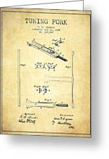 1885 Tuning Fork Patent - Vintage Greeting Card