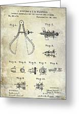 1886 Caliper And Dividers Patent Greeting Card