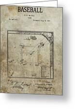 1887 Baseball Game Patent Greeting Card