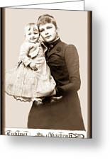 1888 Infant And Mother Greeting Card by Tom Zukauskas