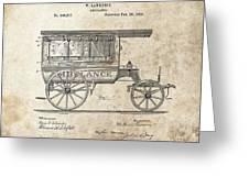 1889 Ambulance Patent Greeting Card