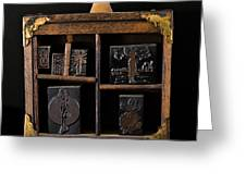 1890 Ink Stamps For Letters Greeting Card