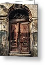 1891 Door Cyprus Greeting Card