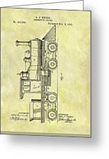 1891 Locomotive Patent Greeting Card