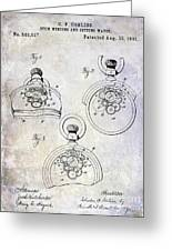 1893 Pocket Watch Patent Greeting Card
