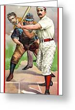 1895 In The Batters Box Greeting Card