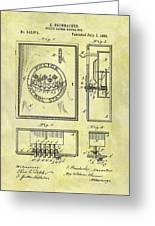 1895 Police Call Box Greeting Card