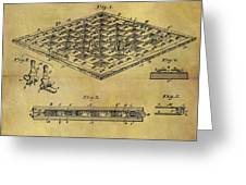 1896 Chess Set Patent Greeting Card
