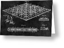 1896 Chessboard Patent Greeting Card