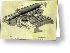 1896 Typewriter Patent Greeting Card