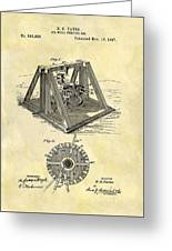 1897 Oil Rig Patent Greeting Card