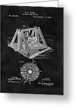 1897 Oil Well Rig Patent Design Greeting Card