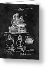 1898 Locomotive Headlight Patent Greeting Card