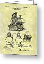 1898 Locomotive Patent Greeting Card