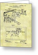 1899 Horse Racing Track Patent Greeting Card