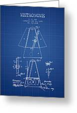 1899 Metronome Patent - Blueprint Greeting Card