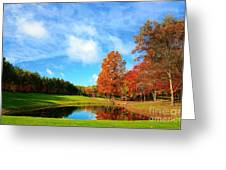 18th Hole Par3 Greeting Card