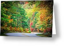 Autumn Season On Blue Ridge Parkway Greeting Card