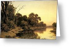 Johnstone Henry James A Backwater Of The River Murray South Australia Henry James Johnstone Greeting Card
