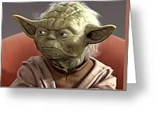 Saga Star Wars Poster Greeting Card