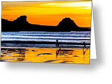 Sunset Bay Beach Greeting Card